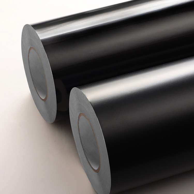 Black PVC Film Label Stock